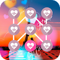 Pattern Love Lock Screen icon