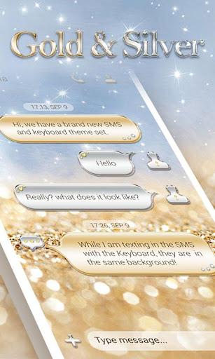 GO SMS GOLD SILVER THEME