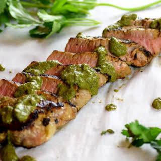 Chimichurri Tri Tip Steak.