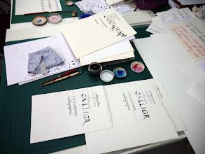 Photo: Choix de papiers, choix d'outils