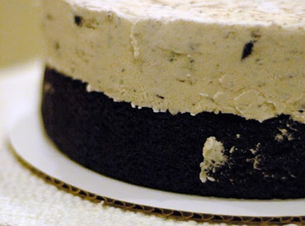 When cake is thoroughly frozen place one  cake piece on a plate that...