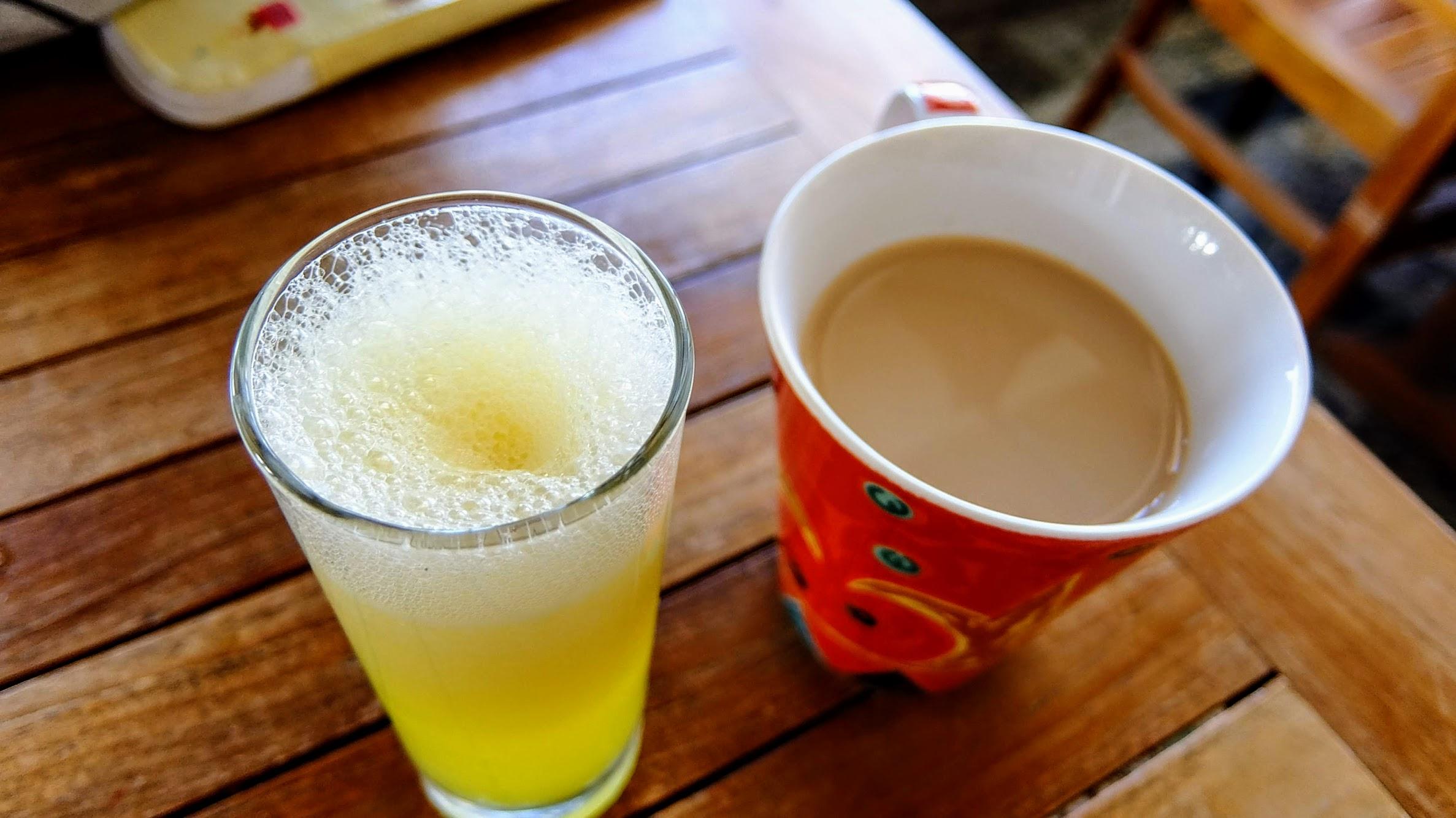 當然也有現打的果汁和咖啡..