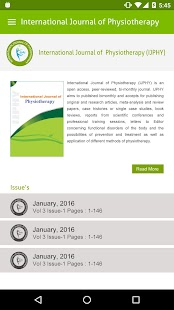 Physiotherapy Journal (IJPHY)- screenshot thumbnail