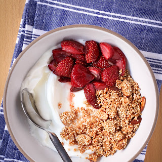 Greek Yogurt with Crispy Quinoa and Roasted Strawberries Recipe