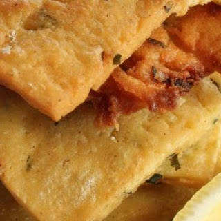 """"""" Panelle"""" – Chick pea flour fritters."""