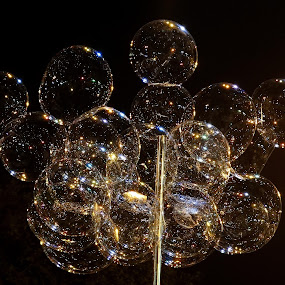 Bubbles in the Air by Gautam Tarafder - Artistic Objects Toys ( night, lights,  )