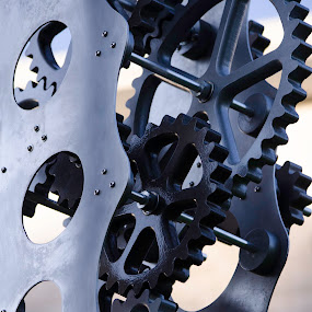 Cogs by H. Ava-Lyn Smith - Artistic Objects Other Objects ( cogs, oil water artt photography, whirly-gig, metal, art, fine art )