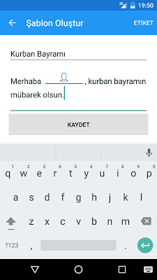 Kişiye Özel Toplu SMS - screenshot