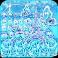 Turquoise Diamond Butterfly Keyboard Theme icon