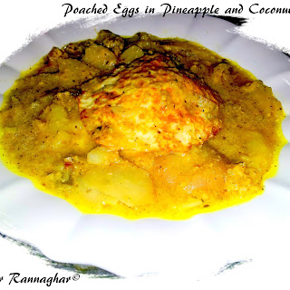 Poached Eggs in Pineapple and Coconut Gravy