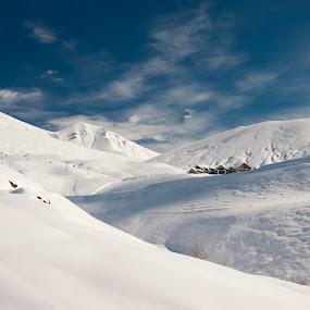 Gudauri, Georgia by Oxana Chorna - Landscapes Mountains & Hills ( mountains, winter, gudauri, ski resort, snow, georgia )