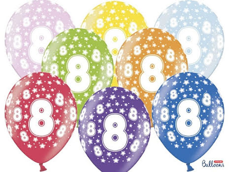 6-pack Sifferballonger mix - 8