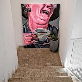 Bottom of the Steps by Richard Michael Lingo - Artistic Objects Other Objects ( artistic objects, bucharest, artwork, graphics, romania )