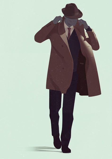 Dibujo de una persona con un traje de color negro  Descripción generada automáticamente con confianza baja