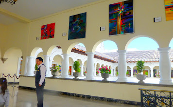 Photo: Colorful artwork by Ecuadorian painters decorates every surface