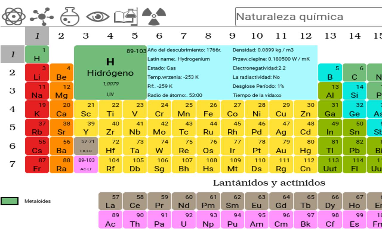 Tabla peridica de elementos aplicaciones de android en google play tabla peridica de elementos captura de pantalla urtaz Images
