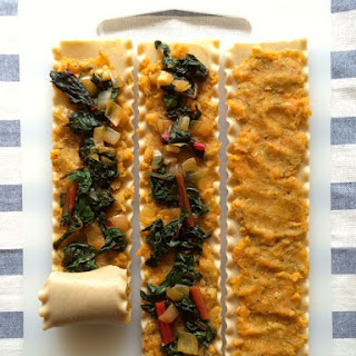 Sweet Potato and Chard Lasagna Wheels Recipe