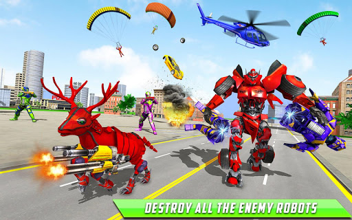 Deer Robot Car Game u2013 Robot Transforming Games apktram screenshots 16