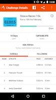 Screenshot of Strava Running and Cycling GPS