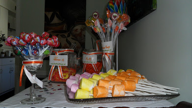 Photo: Beautiful Table  arrangements for your Candy Buffet by http://www.BestPartyPlanner.net