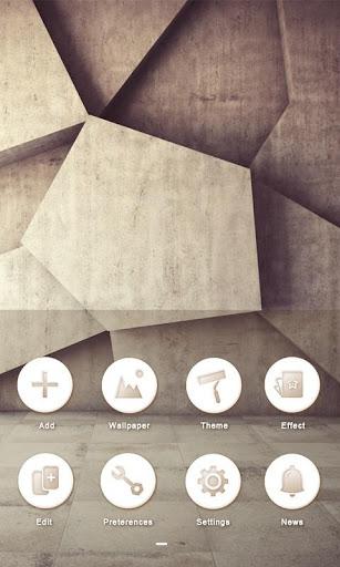 White Stone GO Launcher Theme v1.0 screenshots 5