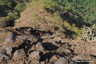 Photo: Descending down Chandragad...
