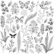 Kaisercraft Whisper Acetate 12X12 - Flora & Fauna