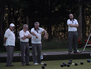 Photo: ON THE LAST END- ANGEL SEVEN DOWN WITH SKIP DOUG ADAMS FINAL BOWL TO COME. A DRIVING WOOD REDUCES THE DEFICIT TO TWO AND ANGEL BEAT PRIORY BY ONE SHOT OVERALL.