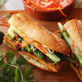Grilled Lemongrass- and Coriander-Marinated Tofu Vietnamese Sandwiches (Vegan Banh Mi)