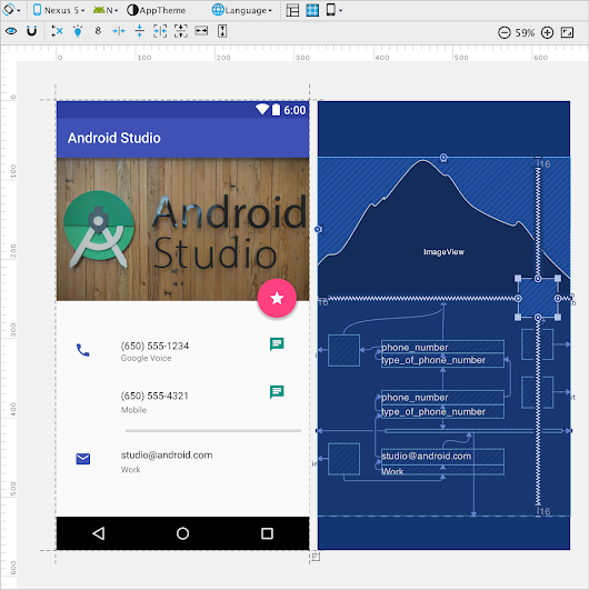 New Layout Editor with Constraint Layout - Android Studio Project Site