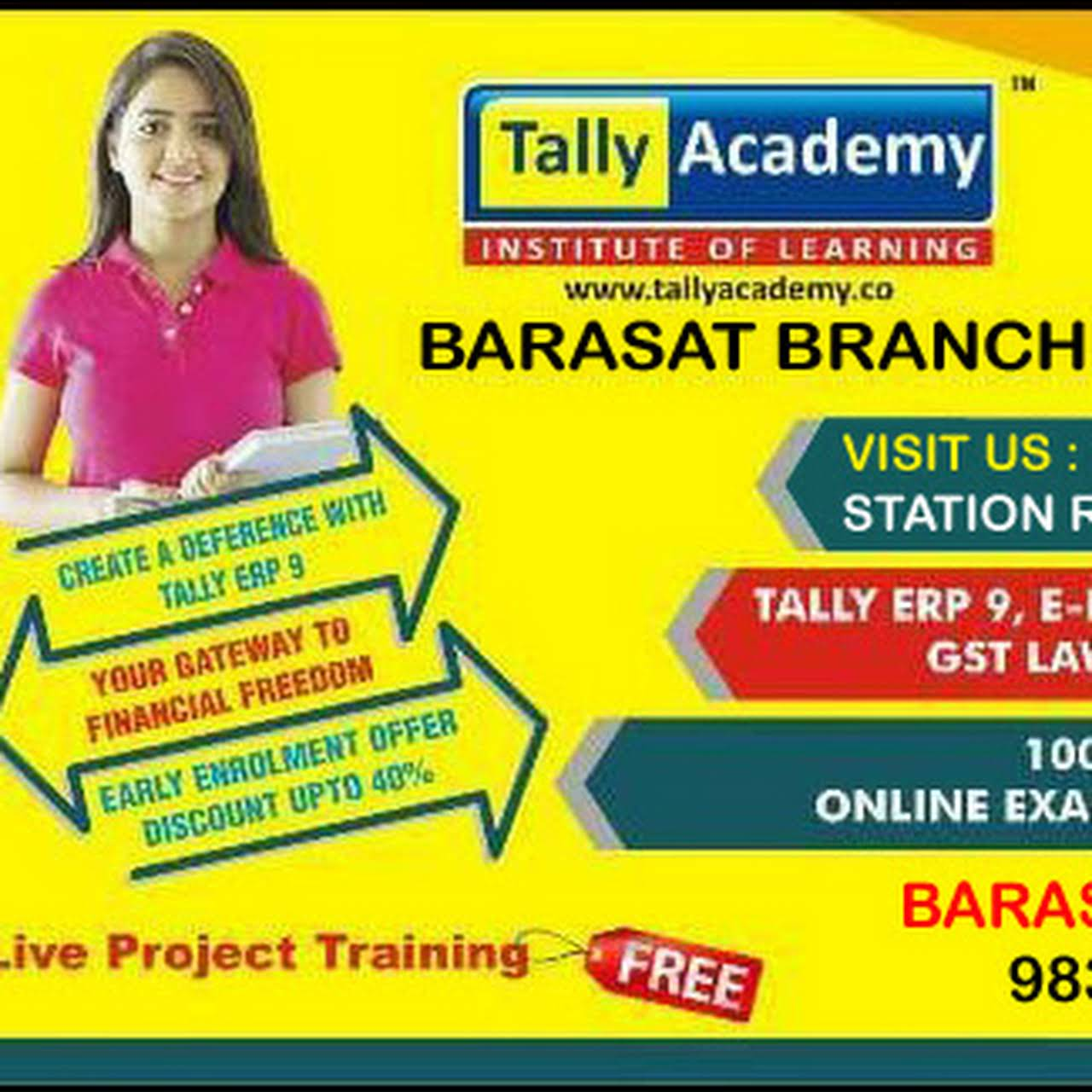 Tally Academy Barasat - is the Orgnisation Authorised to