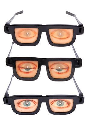 Glasögon med ögon