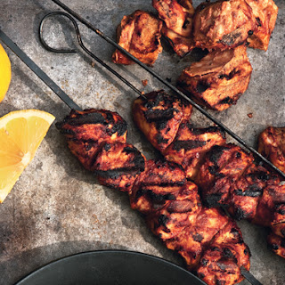 Yogurt-Marinated Chicken Kebabs with Aleppo Pepper.