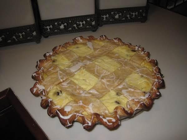 Ricotta Pie With Choc.chips & Gran Mariner