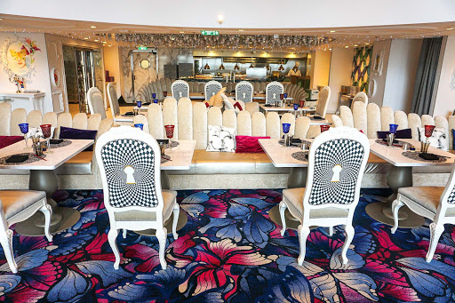 "Wonderland, the ""Alice in Wonderland"" inspired restaurant on Symphony of the Seas."