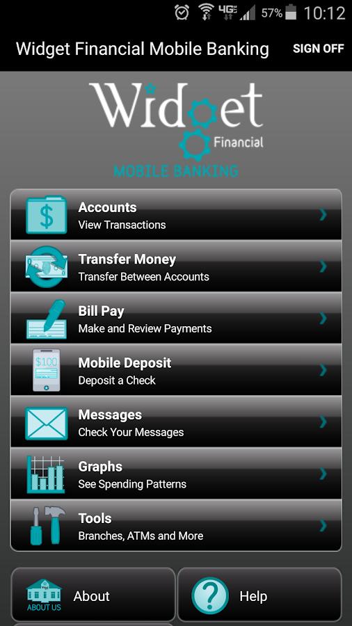 Widget Financial Mobile - screenshot