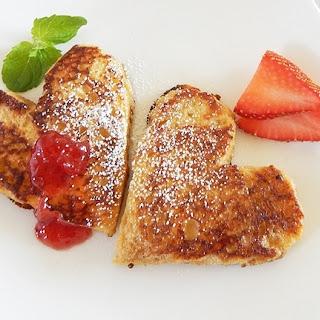Strawberry-Vanilla French Toast Hearts