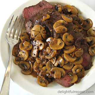 London Broil with Mushrooms.