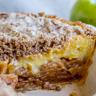 Apple Custard Pie with Cinnamon Streusel Recipe