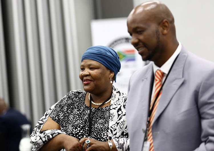 Vytjie Mentor, left, arrives at the Zondo inquiry on Monday, February 11 2019. Picture: MASI LOSI