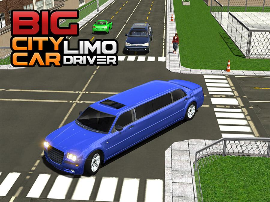 Big City Limo Car Driving- screenshot