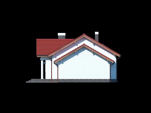 Chmielów z garażem - Elewacja prawa