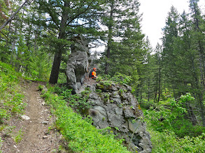"""Photo: I would call this """"Big Chair Rock"""" if it were up to me - near the end of the hike on Sunday"""