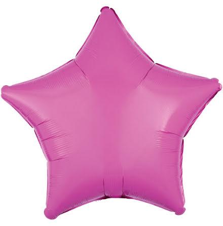 Folieballong, stjärna metallic rosa 48 cm