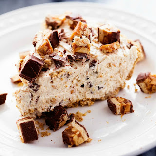 No Bake Snickers Bar Pie.