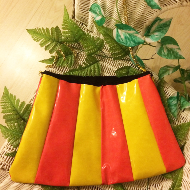 Candy Sling Bag (Orange & Neon Yellow)