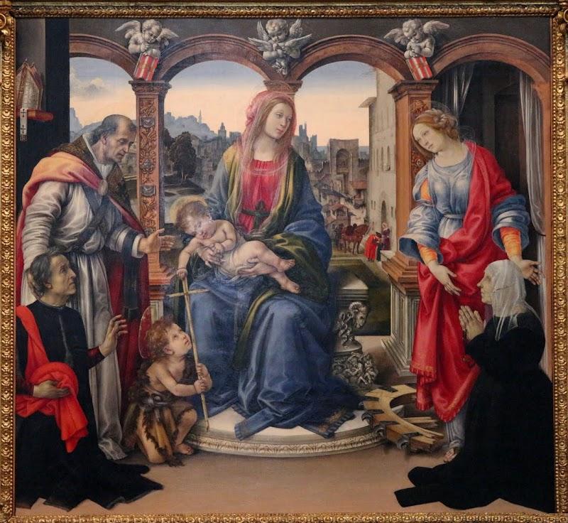 Filippino Lippi, Pala Nerli (Madonna col Bambino tra i santi Martino e Caterina d'Alessandria e i committenti), Santo Spirito