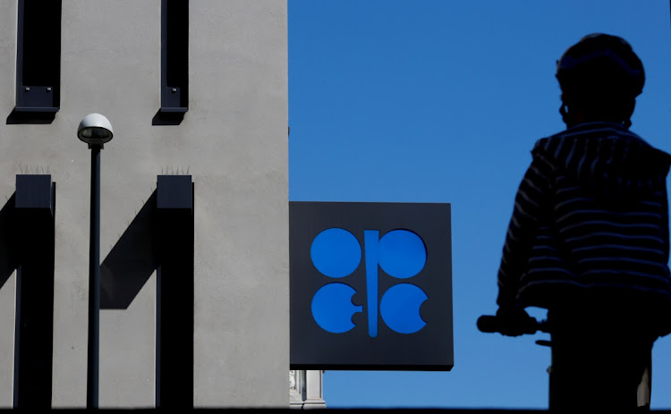 A person passes an Opec logo in Vienna, Austria. Picture: REUTERS/LEONARD FOEGER