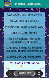 Lagu Dangdut Terbaik Iis Dahlia | Offline+Ringtone for PC-Windows 7,8,10 and Mac apk screenshot 5