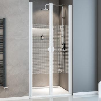 Portes de douche battantes en niche, 80 cm ou 90 cm